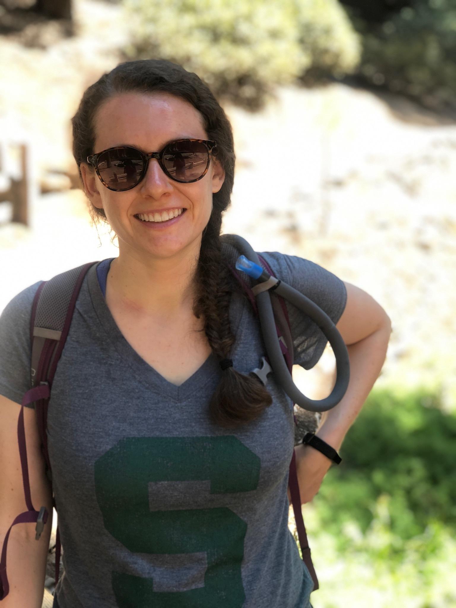 Kristen Seidel on a hike